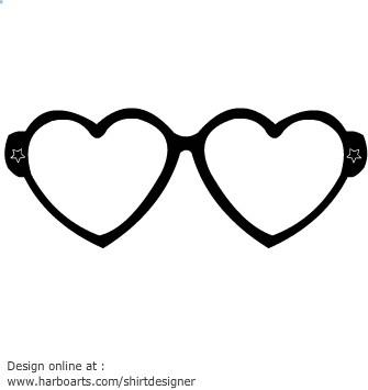 Heart shaped sunglasses clipart 2 » Clipart Portal.