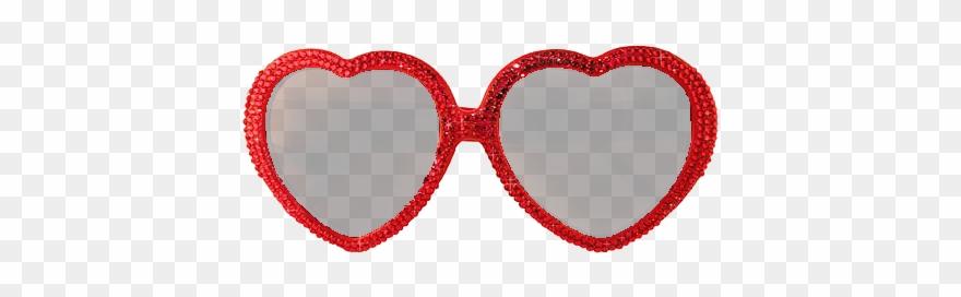 Heart Shaped Sunglasses Clipart.