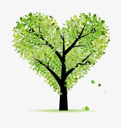 Heart Shaped Tree Clipart Activity 3290.