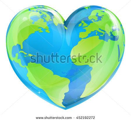 Heart Shaped Globe Stock Photos, Royalty.