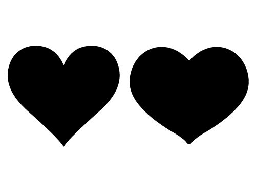 Loving Heart Silhouette Vector Free Download.