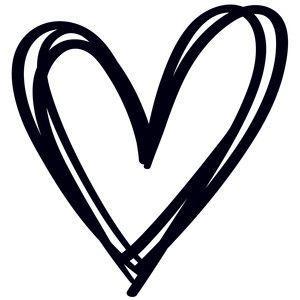 Human Heart Silhouette Clipart.
