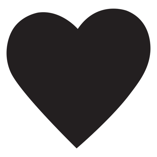 Simple heart silhouette.