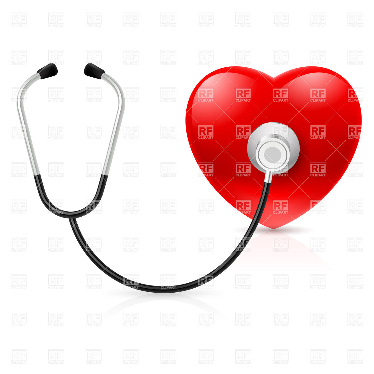 Stethoscope and heart Stock Vector Image.
