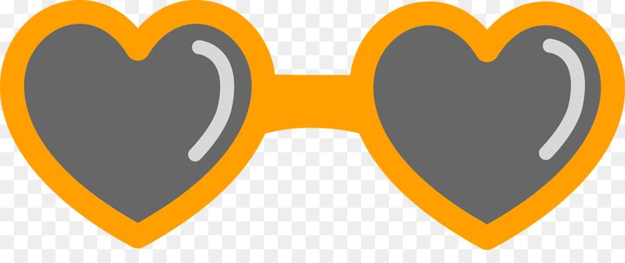 Heart clip art sunglasses.
