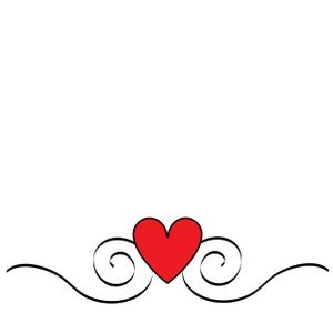 Heart Clipart Image: Pretty heart graphic with swirls.
