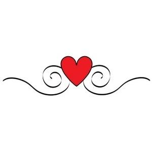 Heart Swirls Clipart.