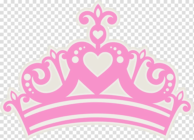 Pink and white crown illustration, Crown Princess Tiara , crown.