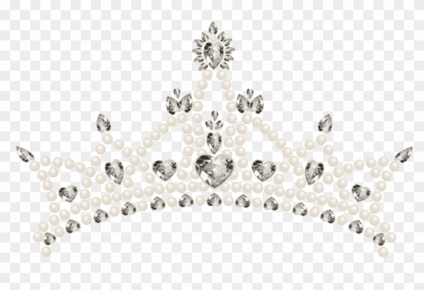 Free Png Download Tiara With Hearts Transparent Clipart.