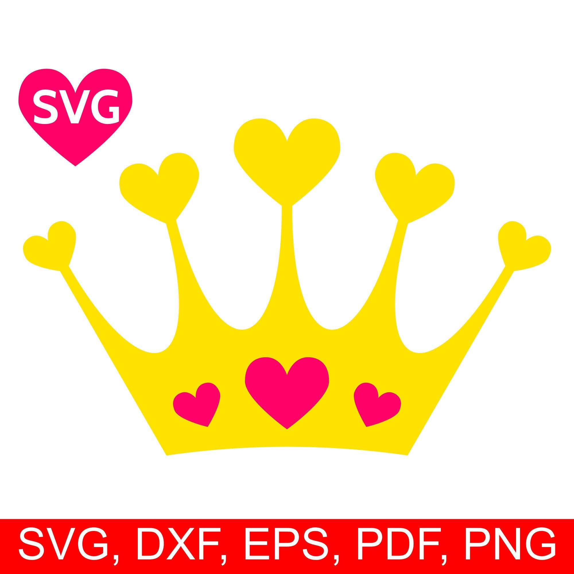 Hearts Crown SVG, Love Tiara printable clipart, a beautiful Love.