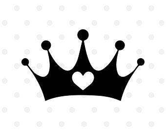 Heart crown svg.