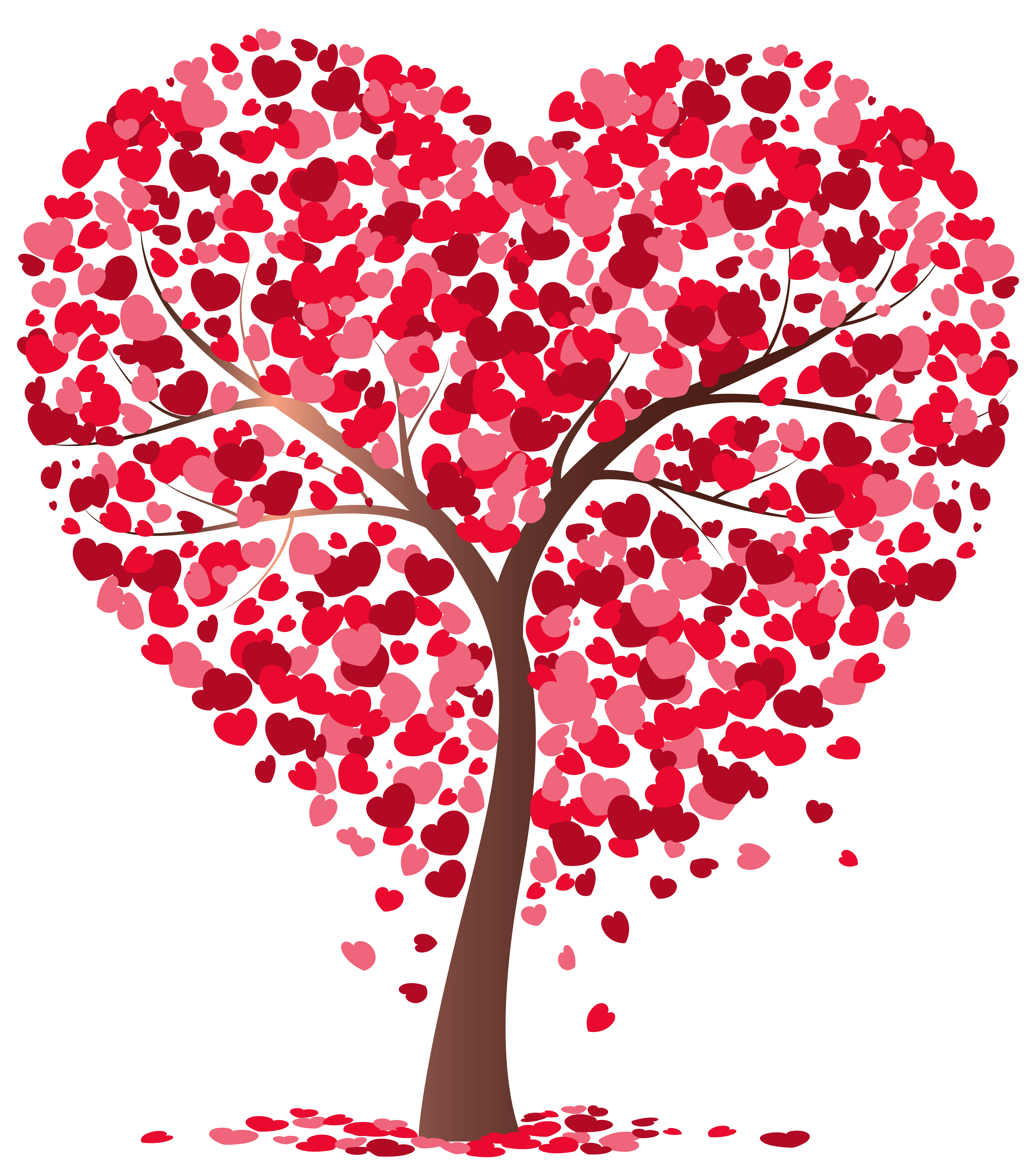 Heart Tree Transparent PNG Image.