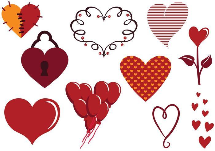 Free Heart Vectors.
