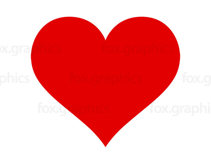 Red heart vector shape.