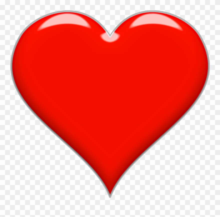 Heart Vector Png Icon Transparent Background Shining.