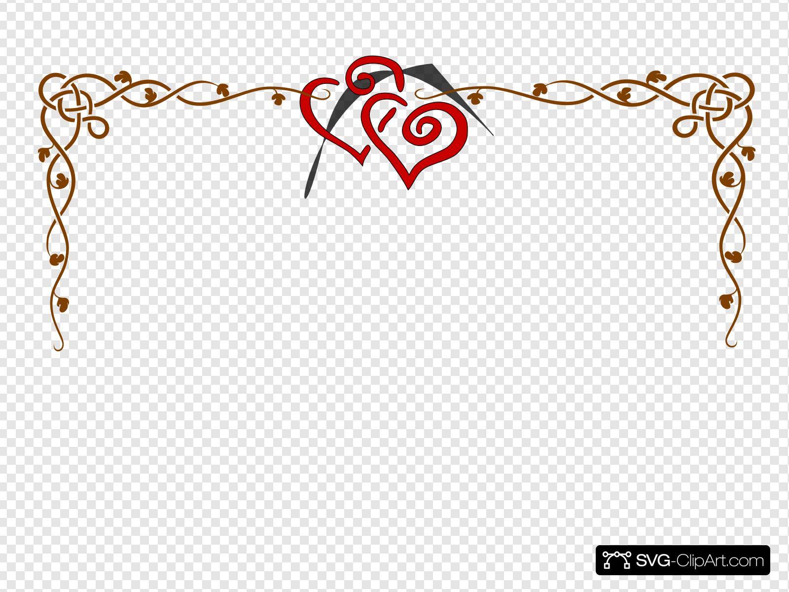 Hearts And Vine Clip art, Icon and SVG.