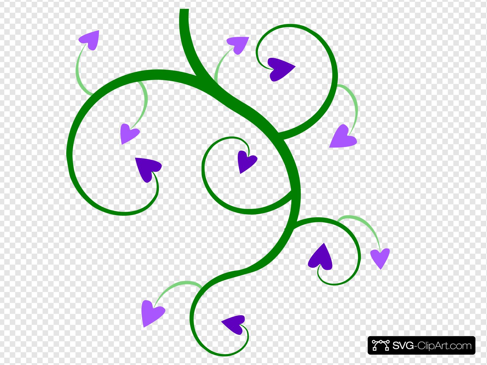 Heart Vine Clip art, Icon and SVG.