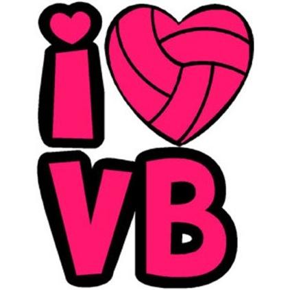 I Heart Volleyball Temporary.