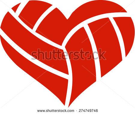 Volleyball Heart Stock Vector 274749746.