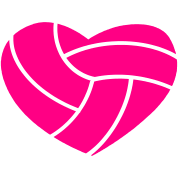 Heart Shaped Volleyball Clipart.