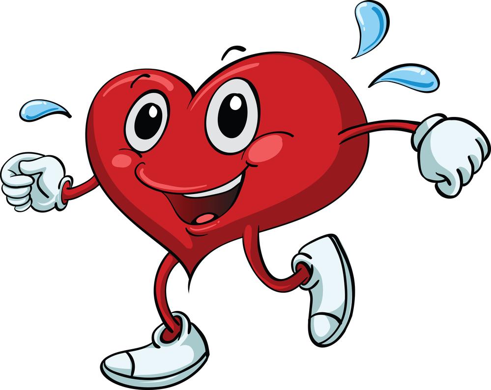 Walking Heart Clipart.