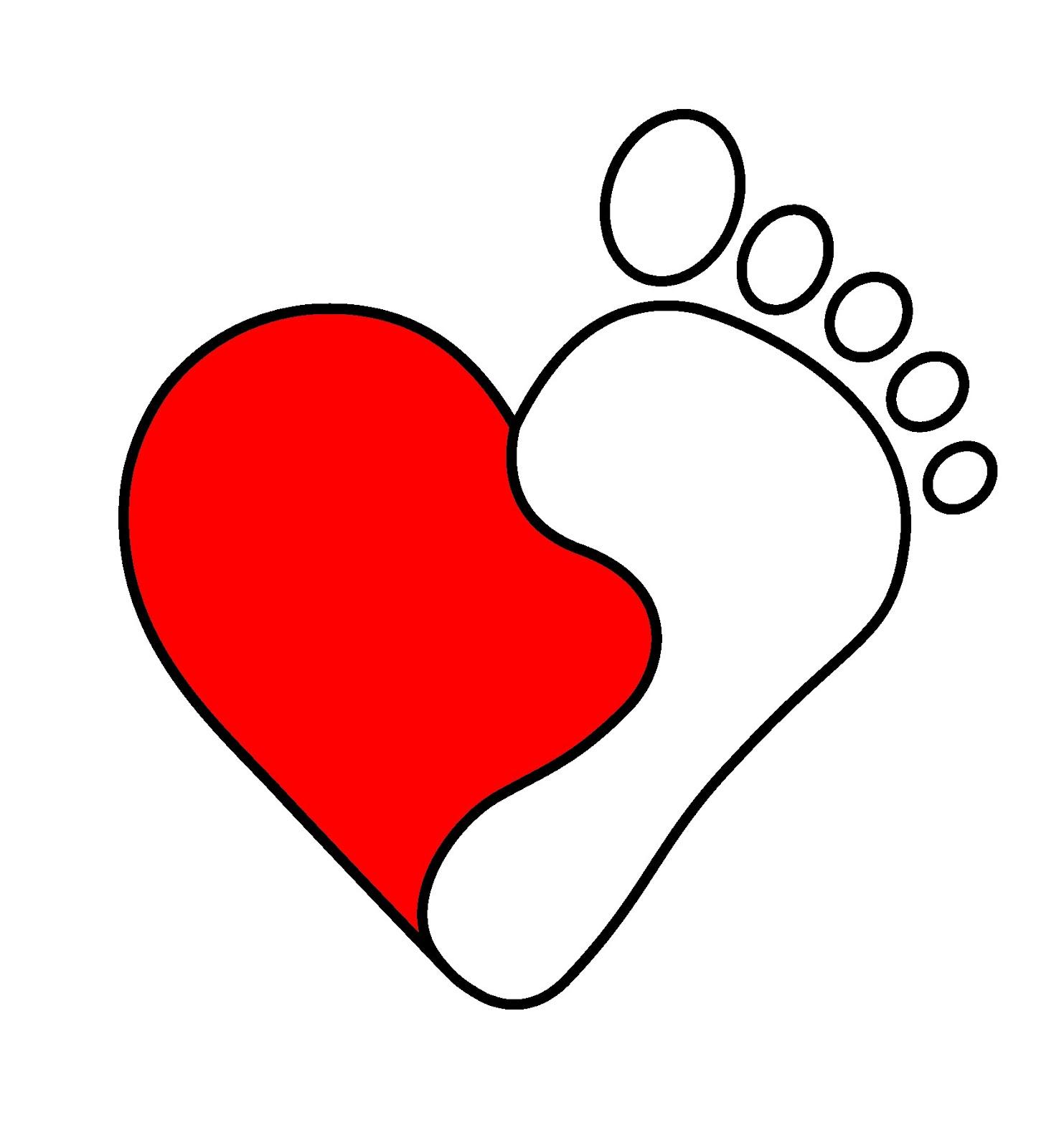 Heart walk clipart.