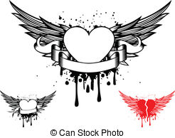 Heart wings Clipart Vector Graphics. 18,212 Heart wings EPS clip art.