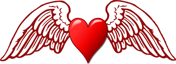 Free Heart With Wings, Download Free Clip Art, Free Clip Art on.