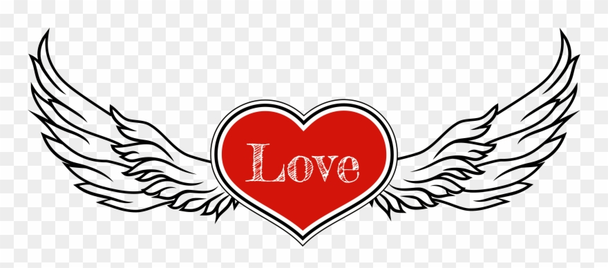 Heart With Wings Clipart.