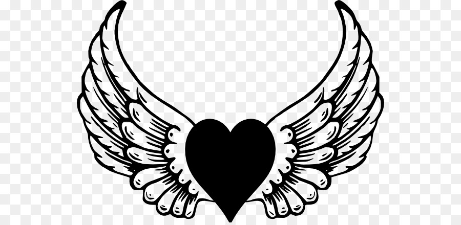 Heart with angel wings clipart 4 » Clipart Station.