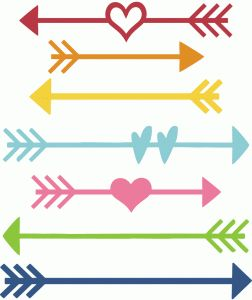 Free Heart Arrow Silhouette, Download Free Clip Art, Free Clip Art.