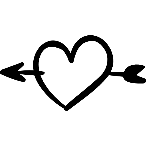 Heart with arrow clipart black and white 1 » Clipart Station.