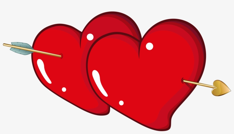 Valentine Hearts With Arrow Png Clipart Picture Heart.