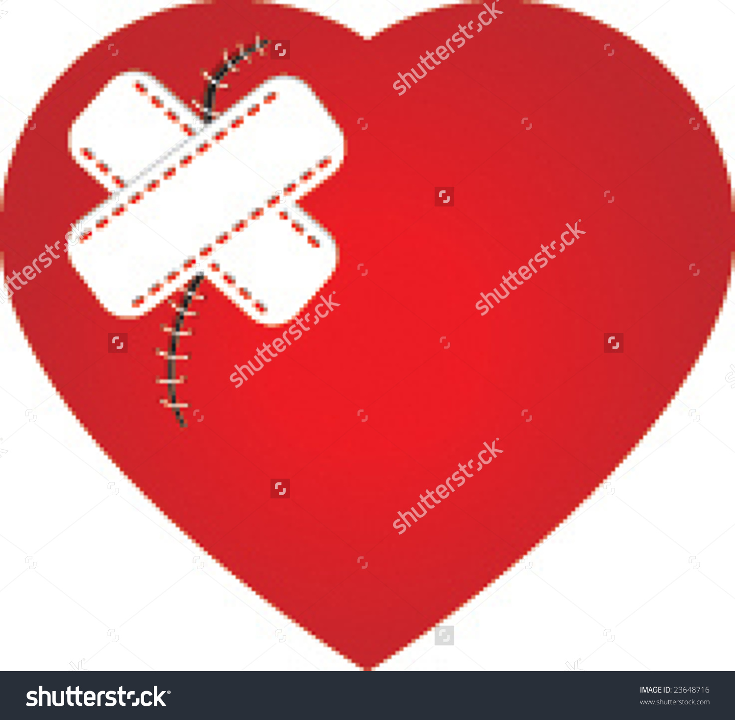 Heart Scar Plaster Stock Vector 23648716.
