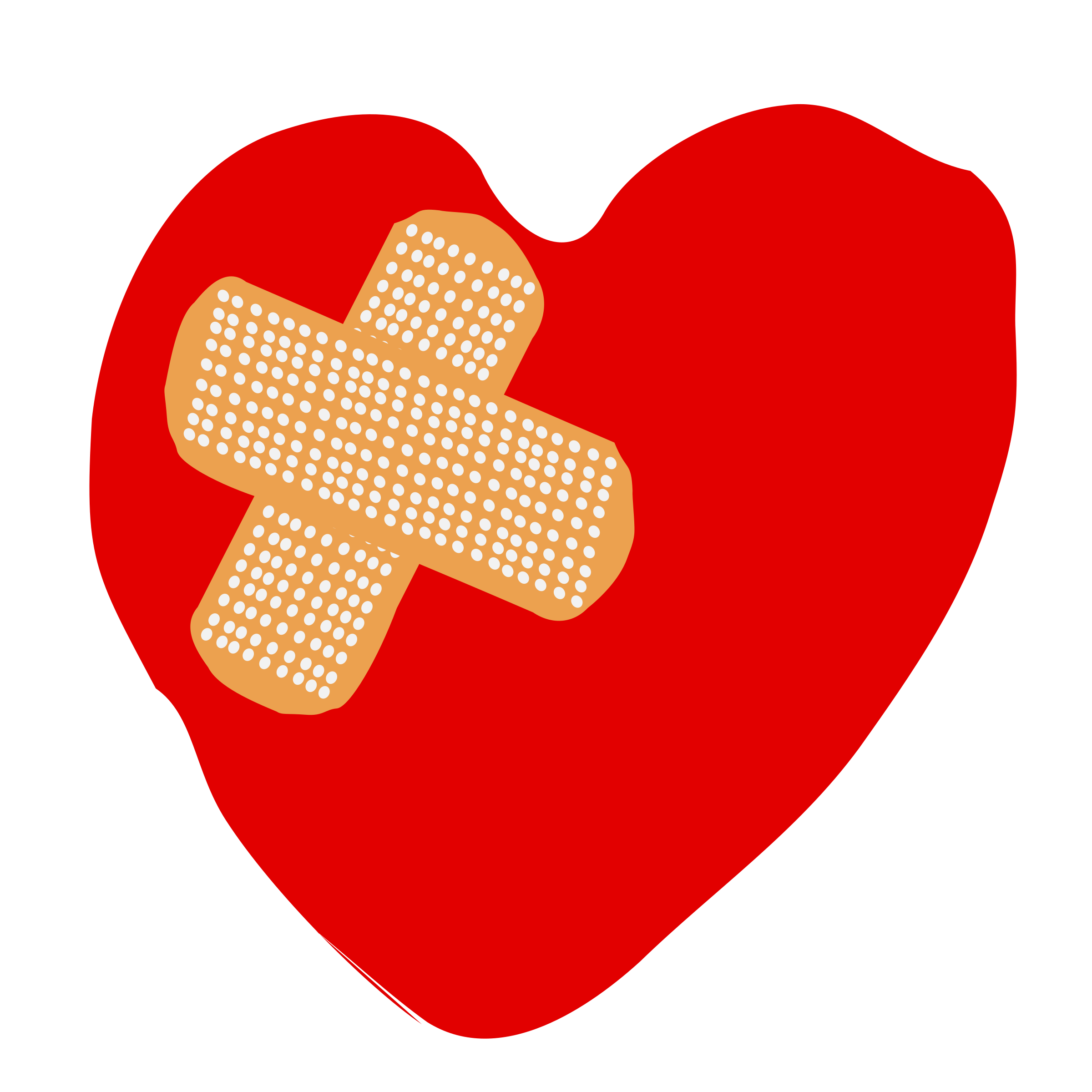 Broken Heart With Bandaid Clipart.