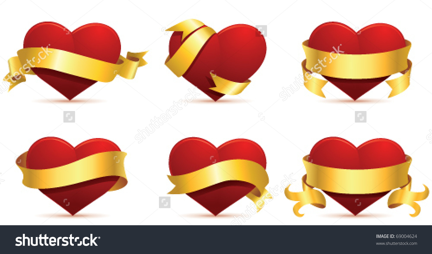 Heart Banner Stock Vector 69004624.