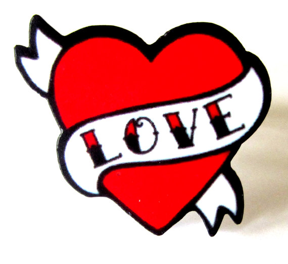 Heart With Banner Tattoo Designs.