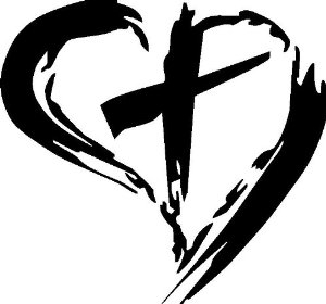 Heart With Cross Inside Clipart.