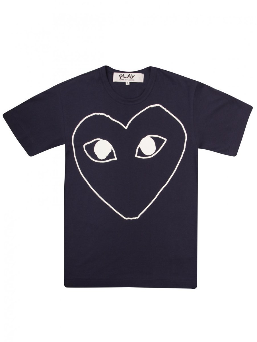 T181 White Eyes Heart Logo T.