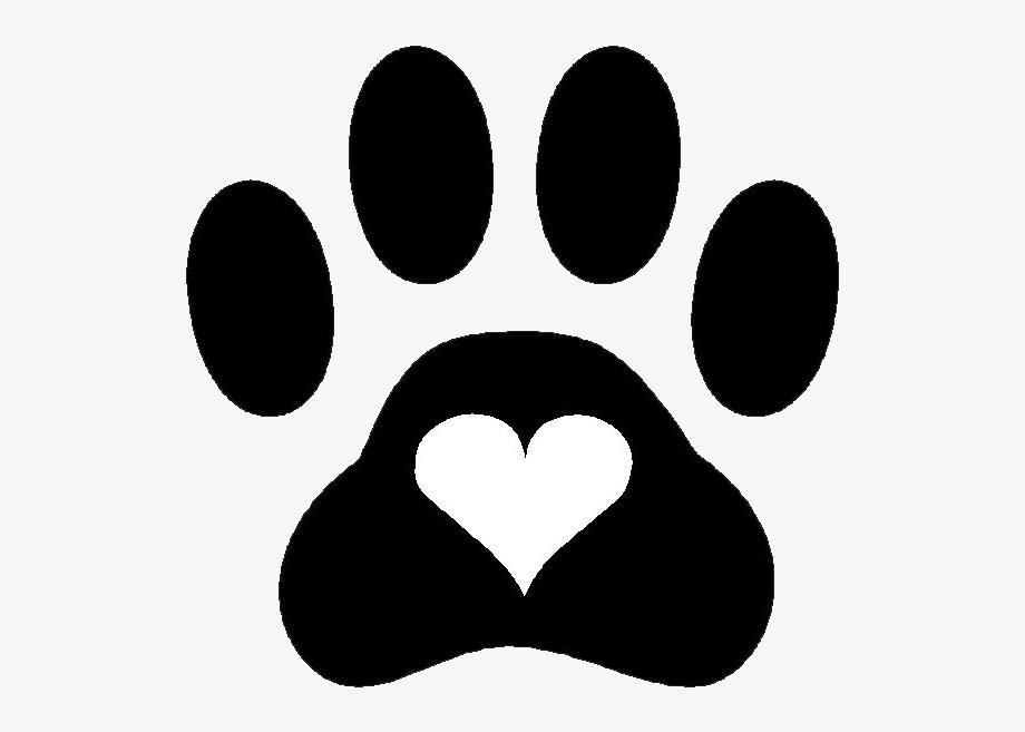 Paw Print Heart Clip Art , Transparent Cartoon, Free.