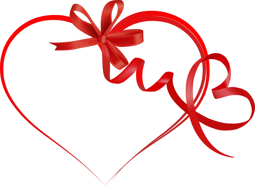 Ribbons and a Heart Clip Art.