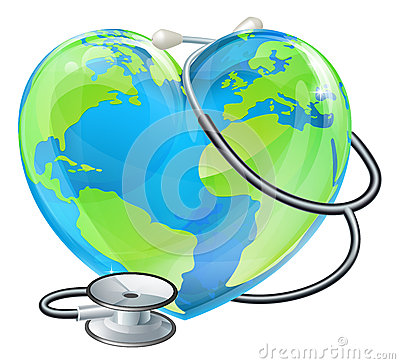Heart World Globe Concept Royalty Free Stock Image.