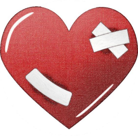 Clip Art Broken Love Clipart.