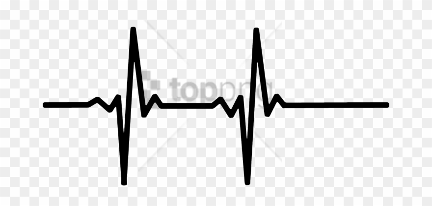 Black And White Heartbeat Monitor Clipart (#4952026.