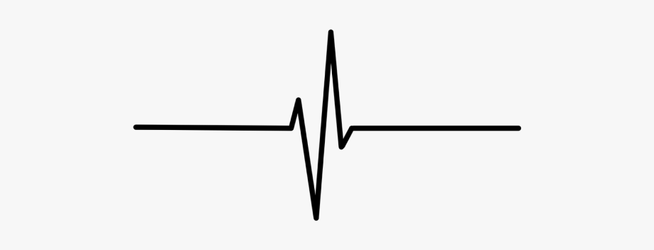 Heartbeat Line Clipart Black And White Png.