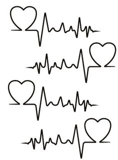 heartbeat line clipart black and white png #3
