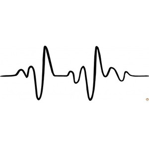 heartbeat line clipart black and white png #19