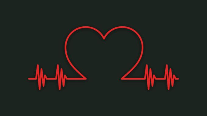 make a heartbeat logo design.