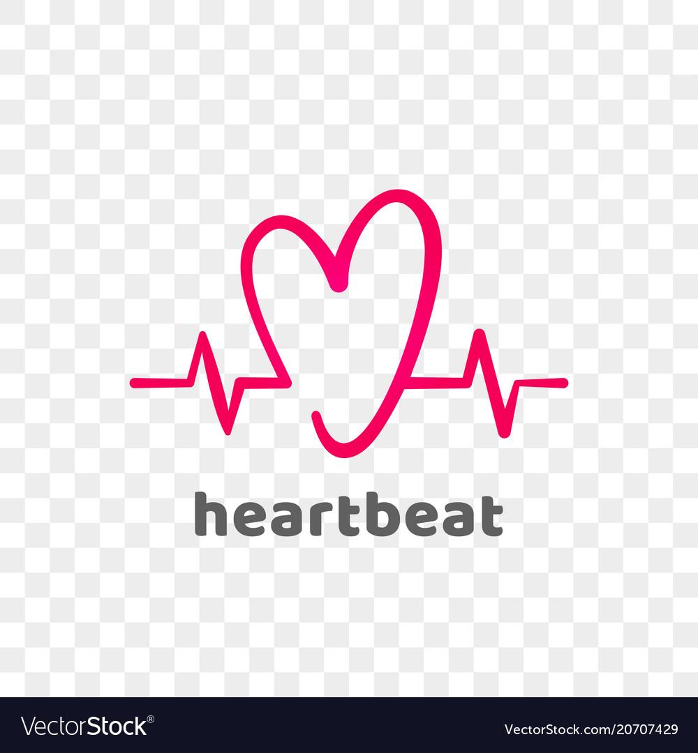Heart logo modern heartbeat abstract icon.