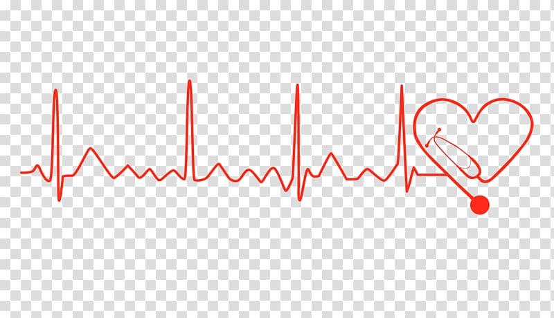 Red heartbeat lifeline illustration, Logo Brand Font, Heart.